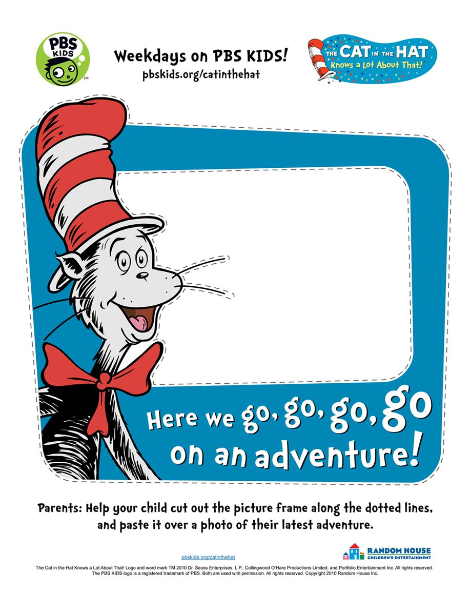 dr seuss printable picture frame teaching pinterest