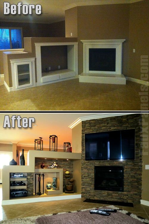 Fireplaces Portfolio: Faux Panels Photos And Design Ideas · Stone Veneer ...