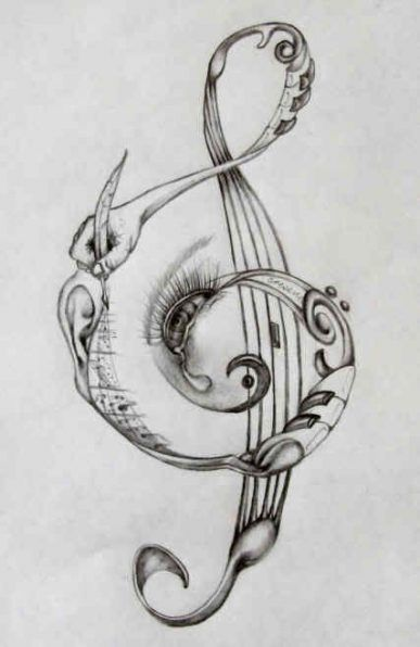 56 ideas tattoo music microphone treble clef #musicnotes