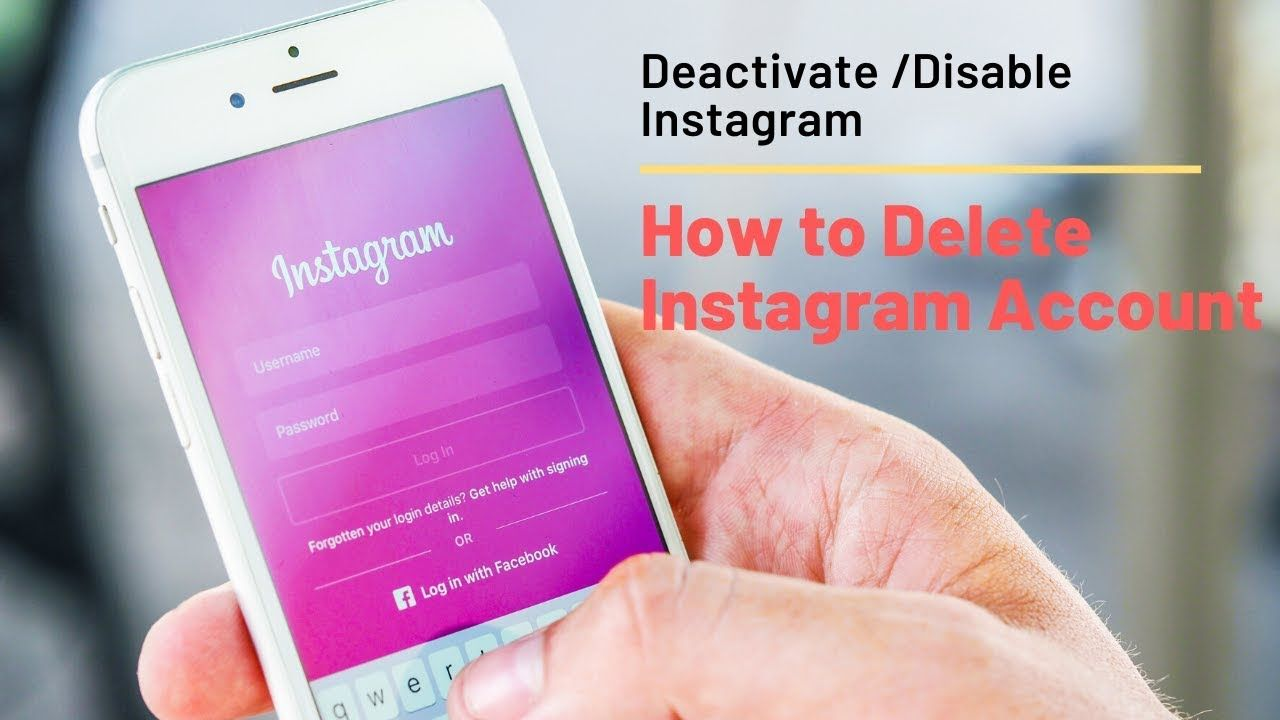 How to delete Instagram Account Deactivate & Disable 2019