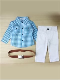 Ericdress Plaid Boys Outfits