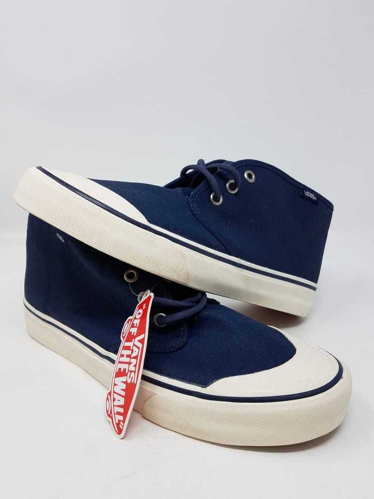 22ce9ee2b1 VANS PRAIRIE CHUKKA PVW WAXED NAVY ATHLETIC SKATE CASUAL MEN S SIZE 7 NEW  WOB  fashion