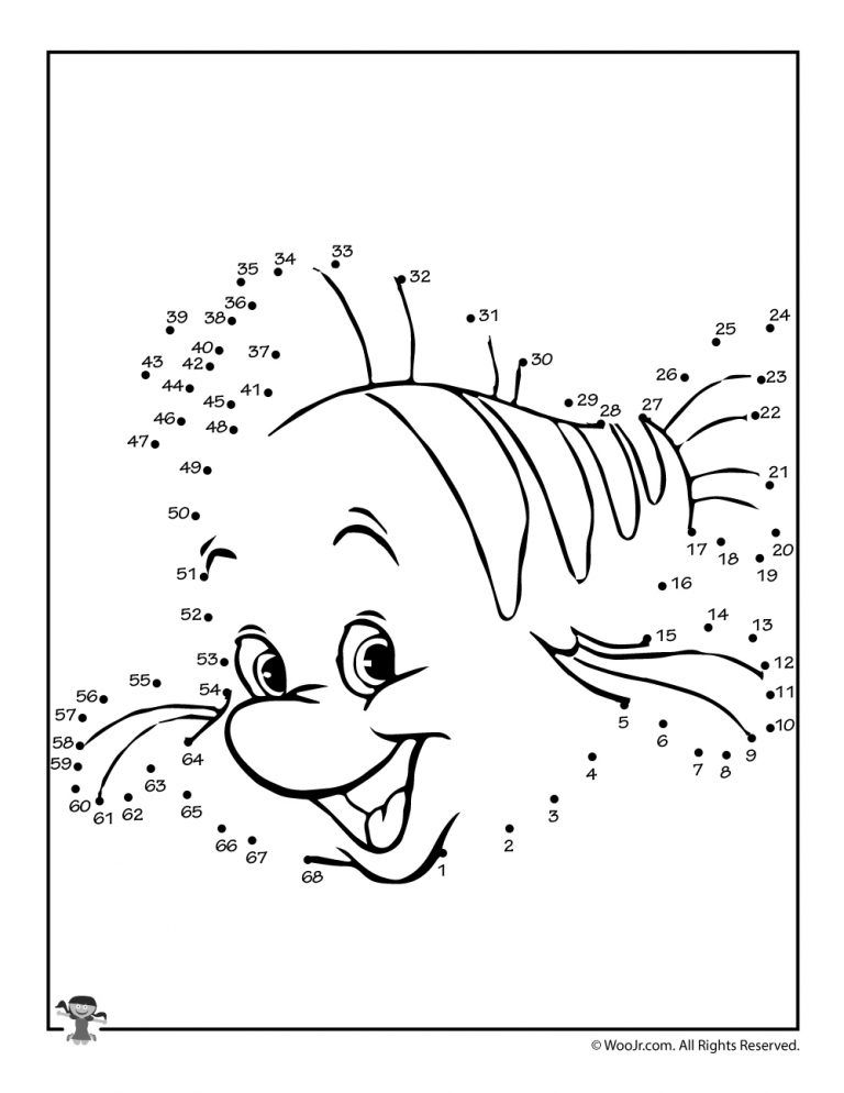 Disney Dot to Dots Printable Activity Pages | Preschool ...