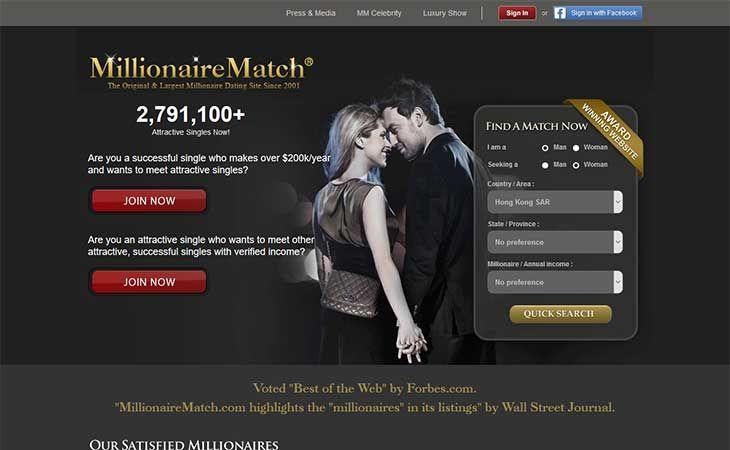 Millionaire dating sites uk