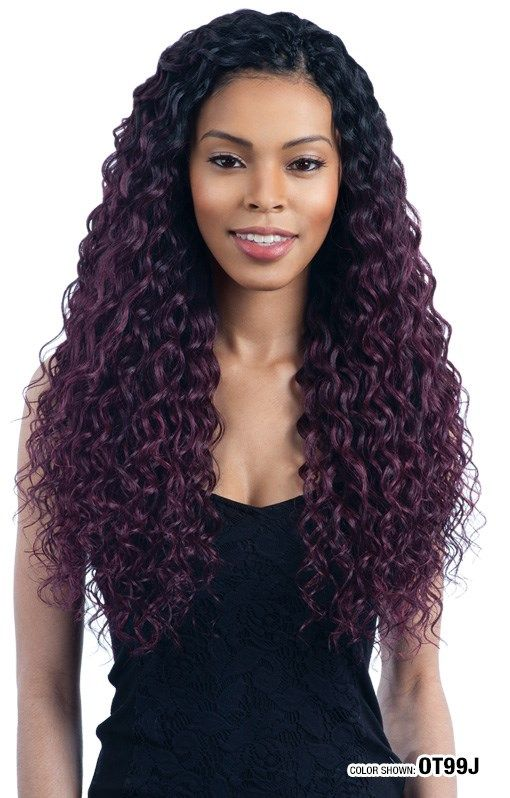 SENSATIONNEL SYNTHETIC HALF WIG INSTANT WEAVE HZ 7048 | Beauty hair extensions, Half wigs, Hair