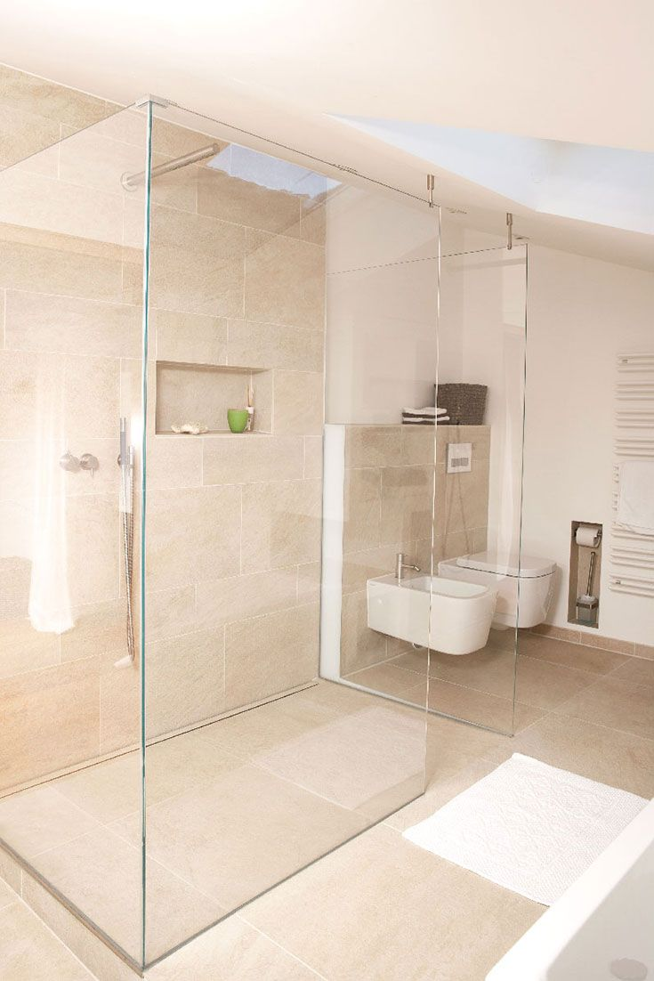 Barrierefreie/bodenebene WalkIn Duschen aus Glas