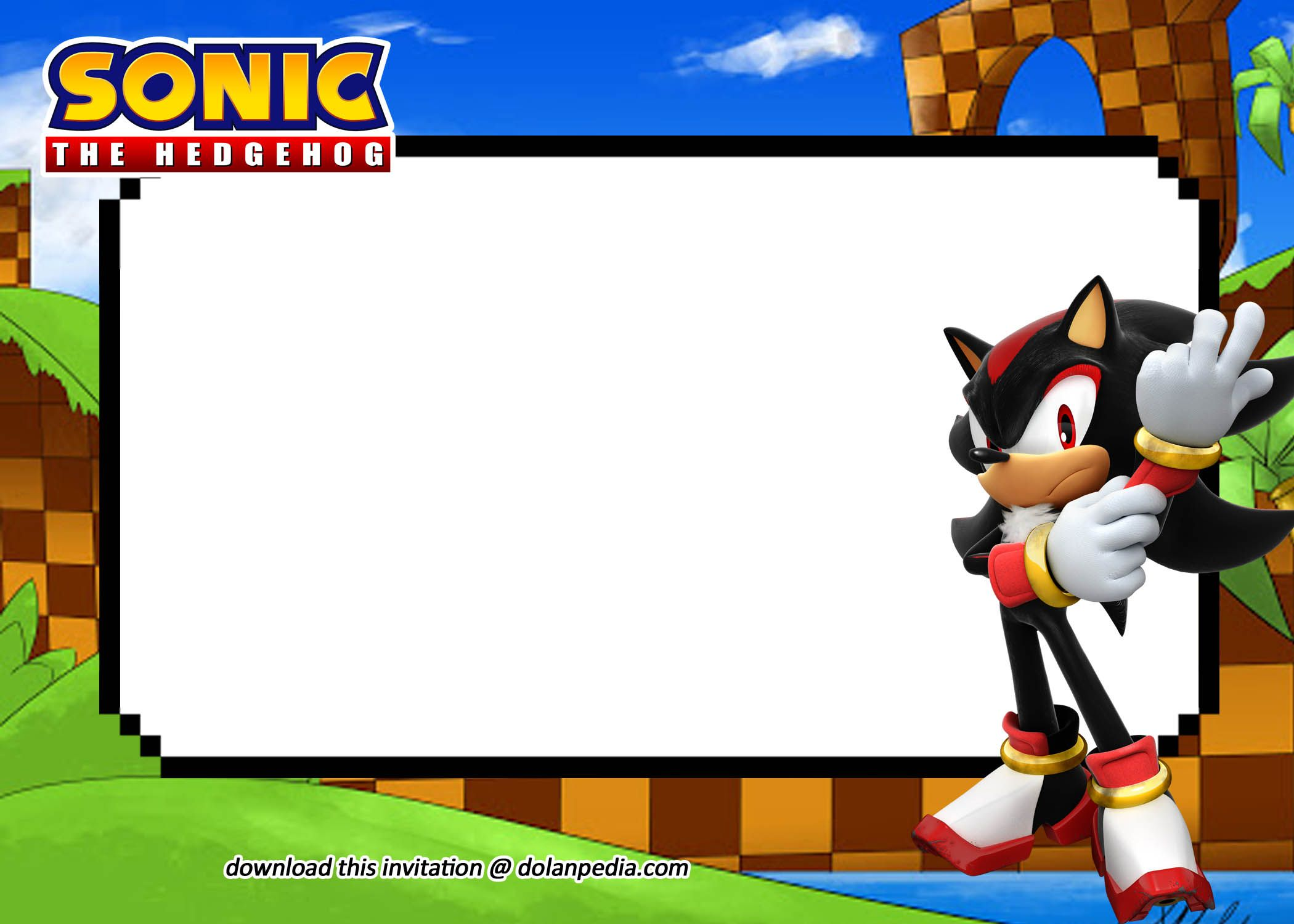 Free Printable Sonic Invitation Templates Sonic Templates Printable Free Sonic Party