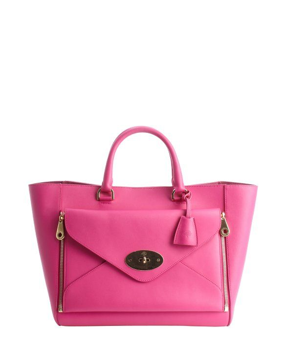 4e3e7cbc80b8 Mulberry fuchsia leather  Willow  convertible front pocket large tote Who doesn t  love the Willow