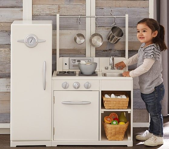 All In 1 Retro Kitchen Kids Play Kitchen Solid Wood Kitchens