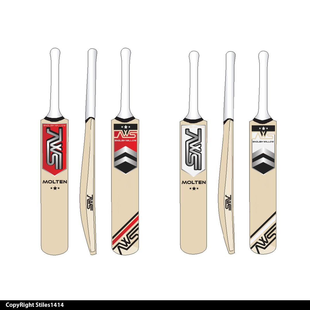 Sticker design by stiles1414 for cricket bat cricket logo design designcrowd