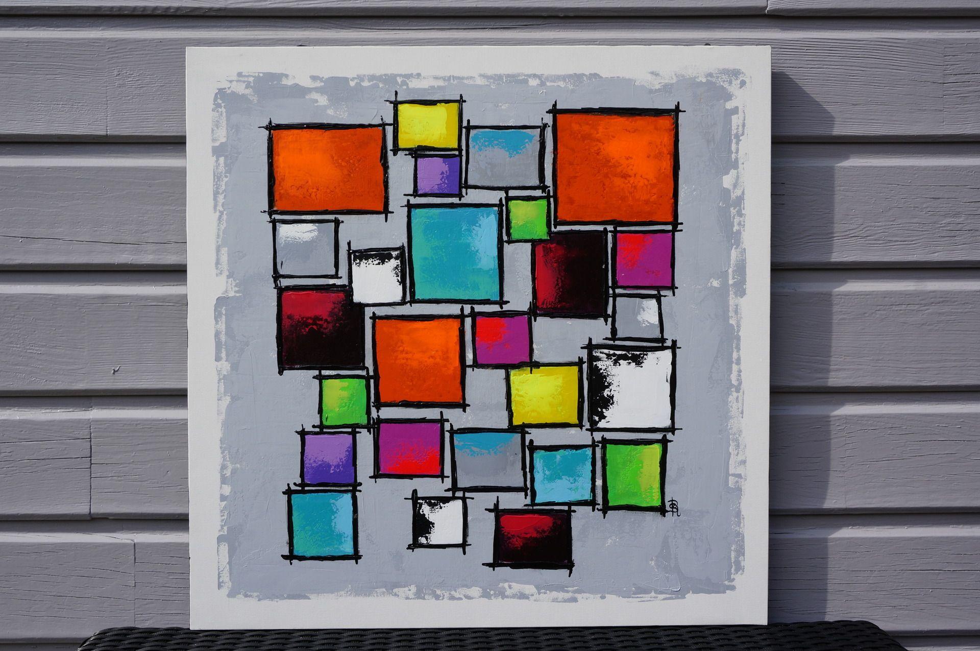Tableau Abstrait Geometrique Tableau Abstrait Abstrait Peinture Abstraite