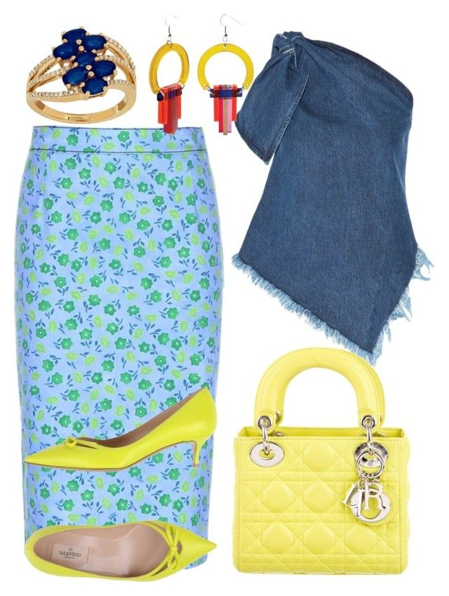 """Splendid Spring Shower🌼💐"" by mdfletch ❤ liked on Polyvore featuring Prada, Marques'Almeida, Christian Dior, Valentino, Toolally, Lord & Taylor and splendidspringshower"