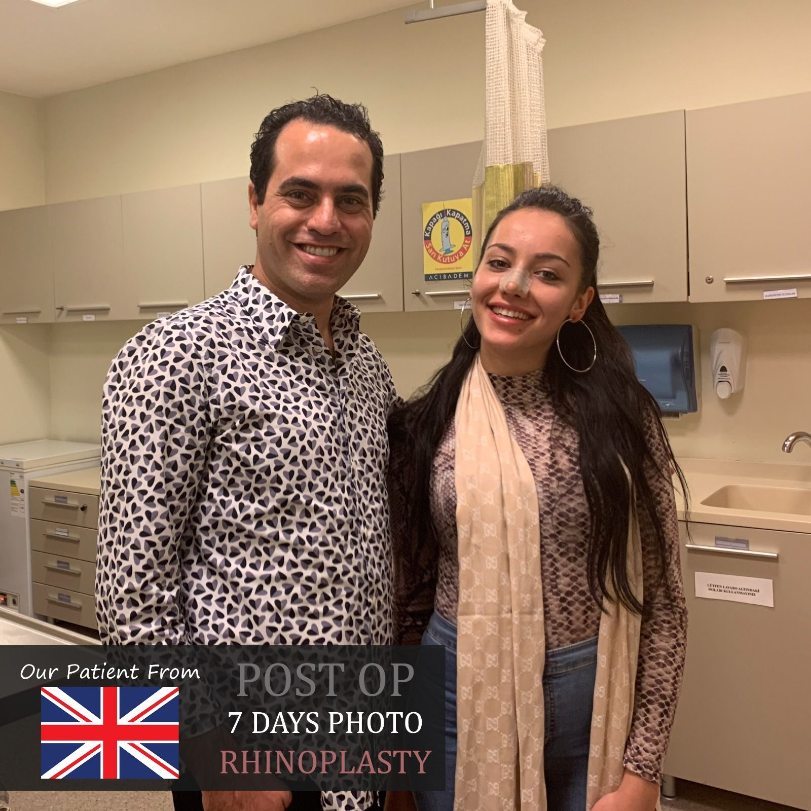 Rhinoplasty We removed splint and silicons from our dear patient Marianna who came from UK  We took a souvenir photo  Get well soon  More than Surgery Art of Nose