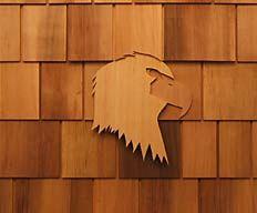 Best Eagle Shingle Carving Art By Bcf Shake Mill Ltd 400 x 300