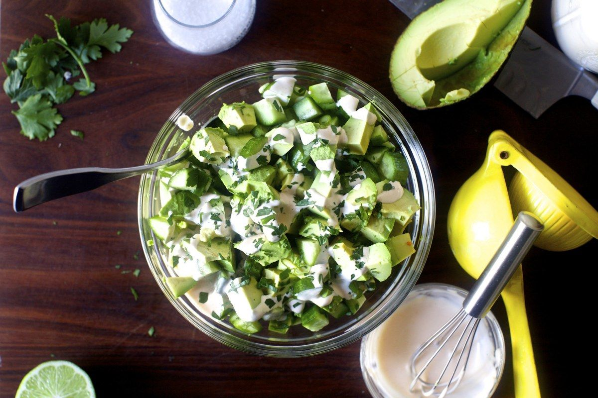 obsessively good avocado cucumber salad | Clean Eating Recipes ...