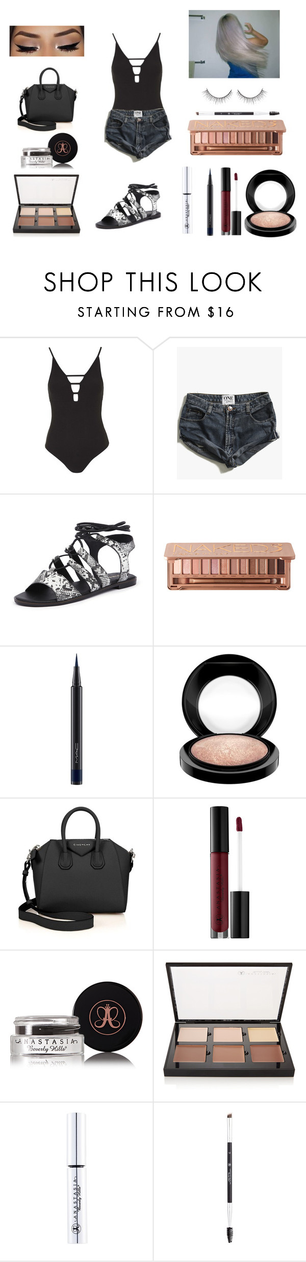 """Untitled #169"" by allgoodbabybaby on Polyvore featuring Topshop, One Teaspoon, Siren, Urban Decay, MAC Cosmetics, Givenchy and Anastasia Beverly Hills"