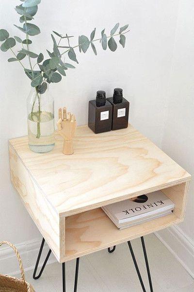 Nice Nightstand in 2019 Modern bedside table, Diy