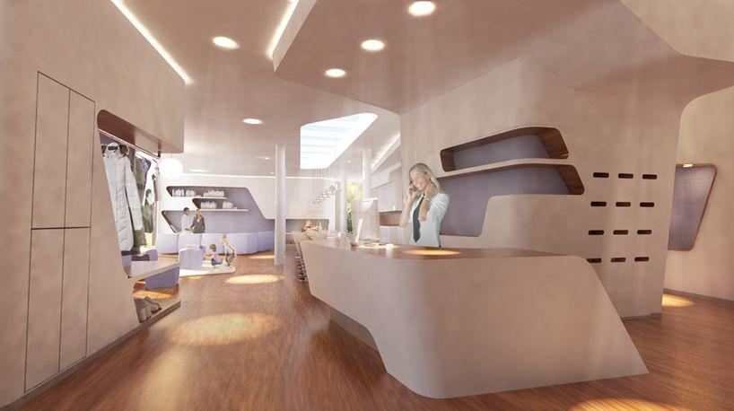 Ronald Mcdonald House Hamburg Altona Designboom Zaha Hadid Design Interior Architecture Design Apartment Design