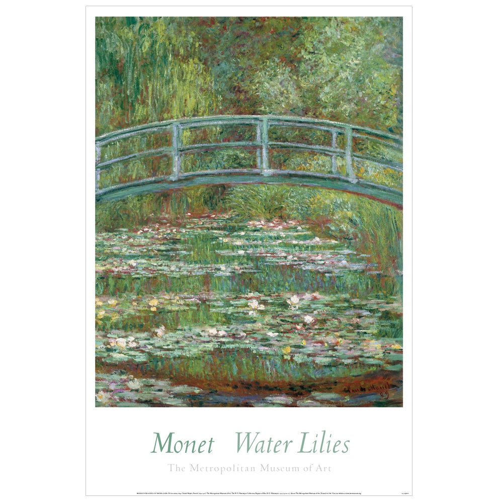 Claude Monet Bridge Over A Pond Of Water Lilies Poster Claude