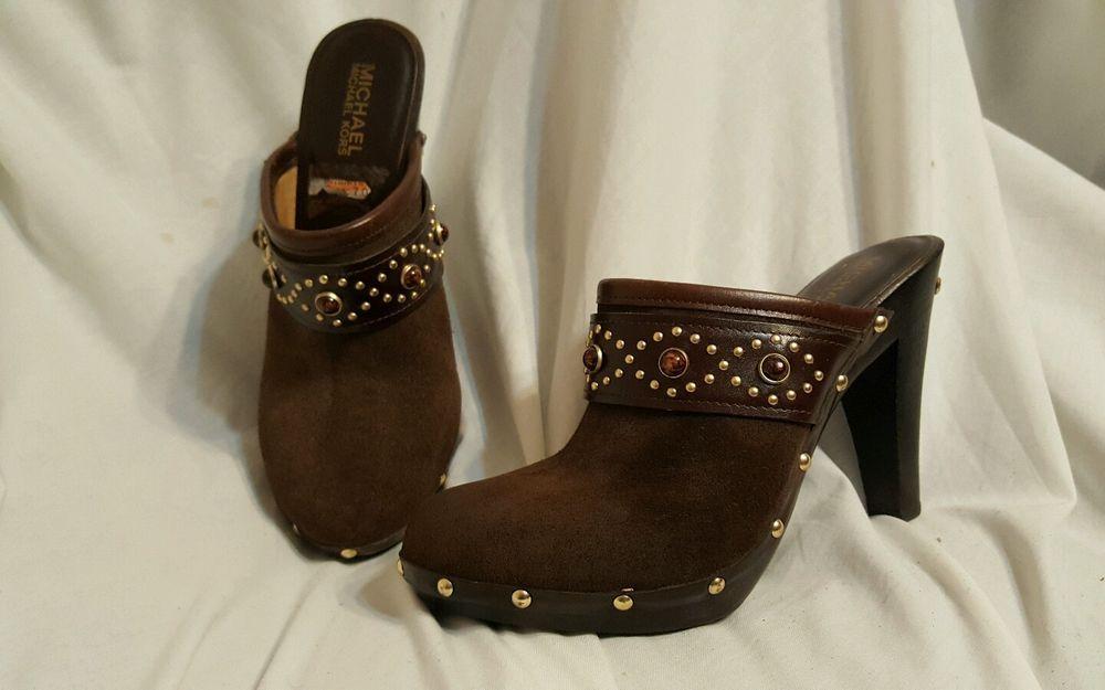 612267afb0227 Michael Michael Kors women s shoes sz 7 M brown suede heels