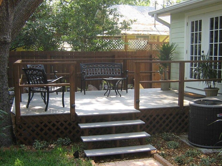 Best Exterior Simple Yet Stunning Deck With Stair For 400 x 300