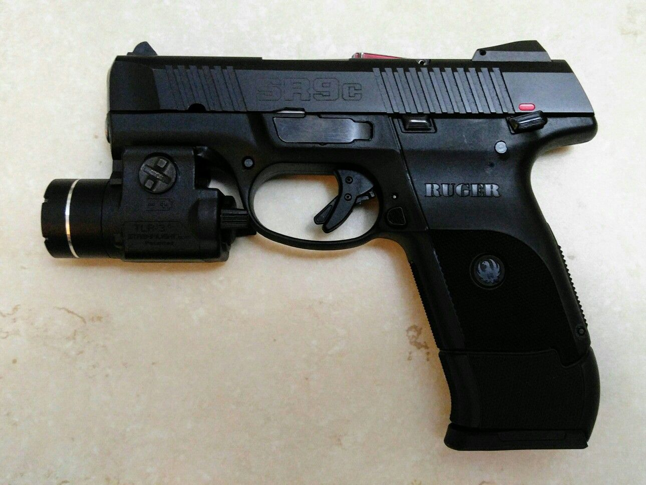 Ruger Sr9c With 17 Round Extended Mag Tac Light Gun Stuff