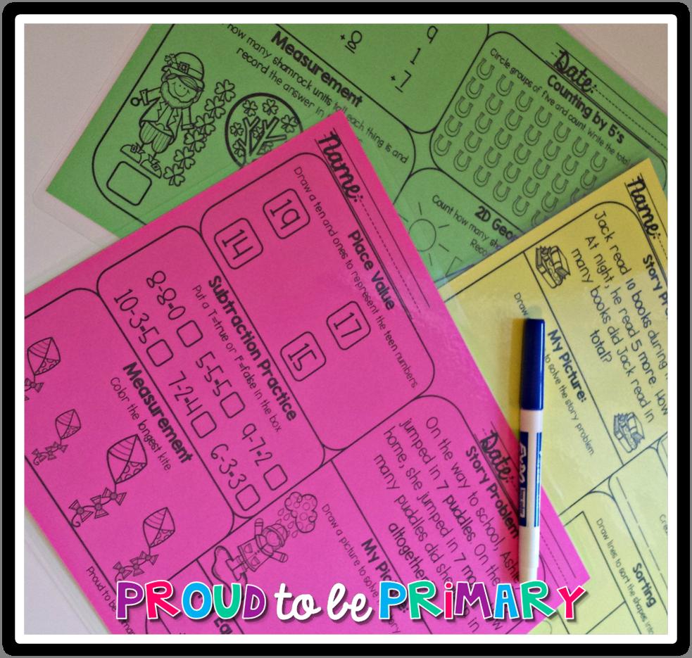 Monthly Math Mats For Daily Math Fact Practice Homeschool