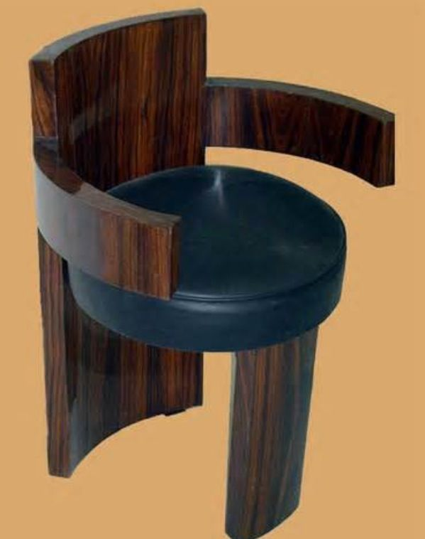 Unusual Art Deco bar chair ▪