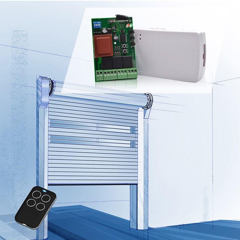 Garage Door Receiver Controller And Remote Control Wireless Controller Rolling Shutter Remote Control
