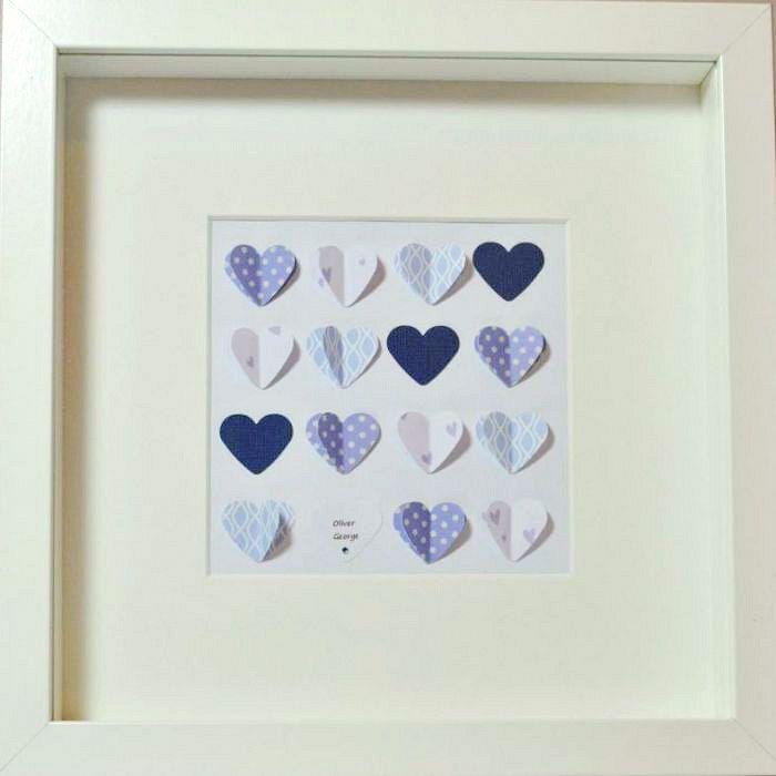 Baby Heart Personalised Framed Artwork   GiftWrappedandGorgeous.co ...