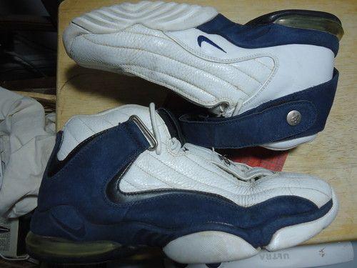 7c451b34e2 Nike AIR MAX PENNY IV 2000 11 00 4 rare vtg og original zoom white navy blue  htf
