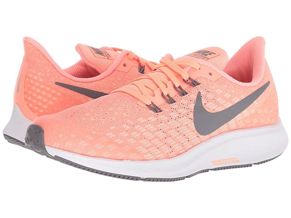 official photos e1c47 bbb5f Nike Kids Air Zoom Pegasus 35 (Little Kid Big Kid) (Crimson Tint Gunsmoke Crimson  Pulse) Girls Shoes. Fuel her need to fly! Take to the pavement with the ...