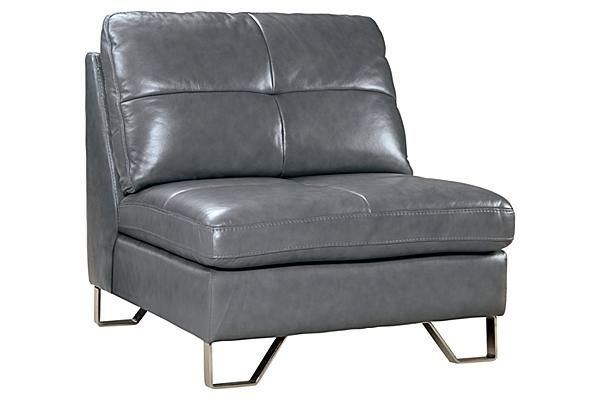 The Gunter Thunder Armless Chair From Ashley Furniture
