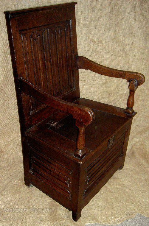 Super Rare Early 17Th Century Oak Linenfold Box Chair Antiques Squirreltailoven Fun Painted Chair Ideas Images Squirreltailovenorg