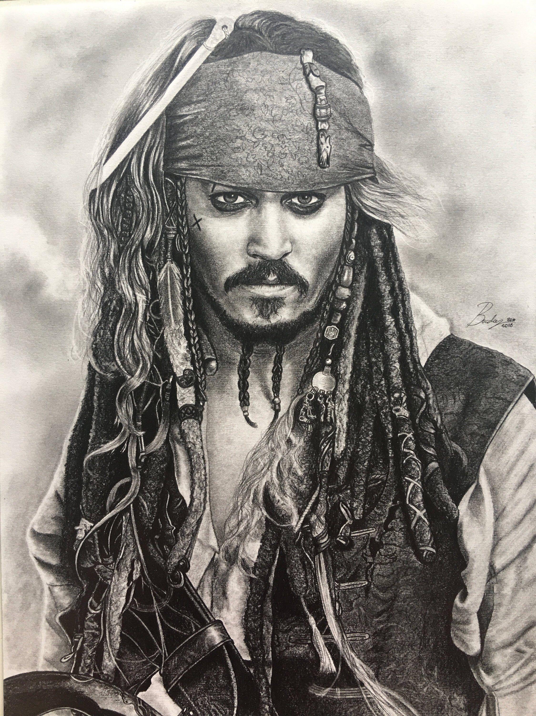 Ritratto Originale A Matita Di Jack Sparrow Dal Film Pirates Etsy Jack Sparrow Ritratti Fumetti Di Batman