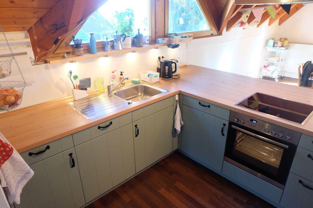 Küche novel Zurbrüggen grün, 10 Monate NP 6300Euro wie neu - küchen ohne geräte