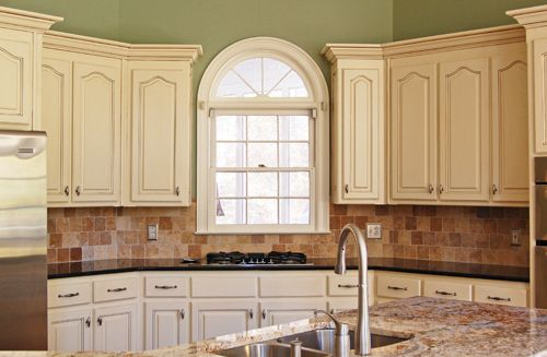 Painted Glazed Kitchen Cabinets Check more at https://rapflava.com ...