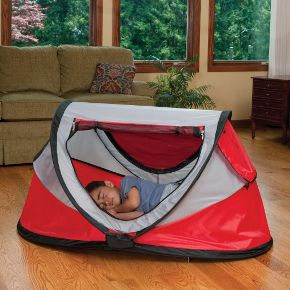 Kidco Cardinal PeaPod Plus Portable Travel Air Mattress Child Tent Bed. Whether you have an infant or u0027big kidu0027 the PeaPod Plus is the perfect travel bed. & Best thing I ever bought. Better than any pack-n-play for travel ...
