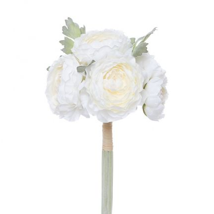 Ranunculus peony bouquet helen 6 flwx30cmst cream deb ball buy silk flowers from australias largest importer of artificial fake flowers online manufacturer of high quality artificial silk flowers plants mightylinksfo