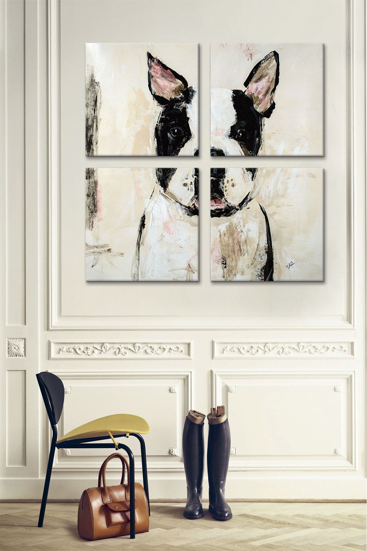 Cuadro / pintura / perro / dog picture / decoración / decor / Mediterranean Natural
