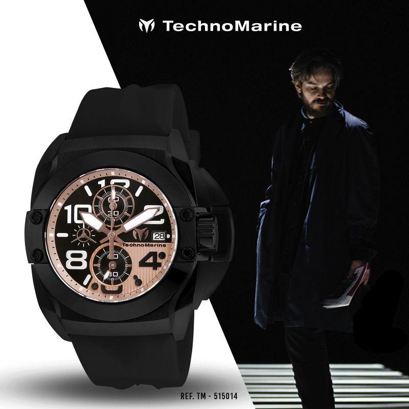 a2290962a039 Reloj Technomarine TM-515014 de Silicon color Negro Cronografo de 45mm   relojhombre  reloj  colombia  watches  Technomarine