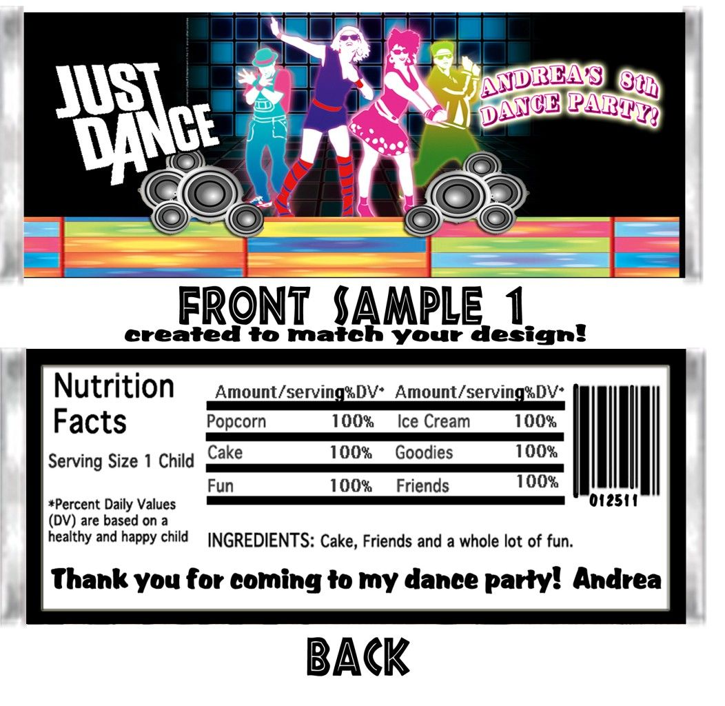 Just dance hip hop birthday party ticket invitations vip pass favors ...