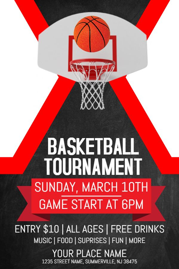 Basketball Tournament Flyer Design Template  March Madness Poster