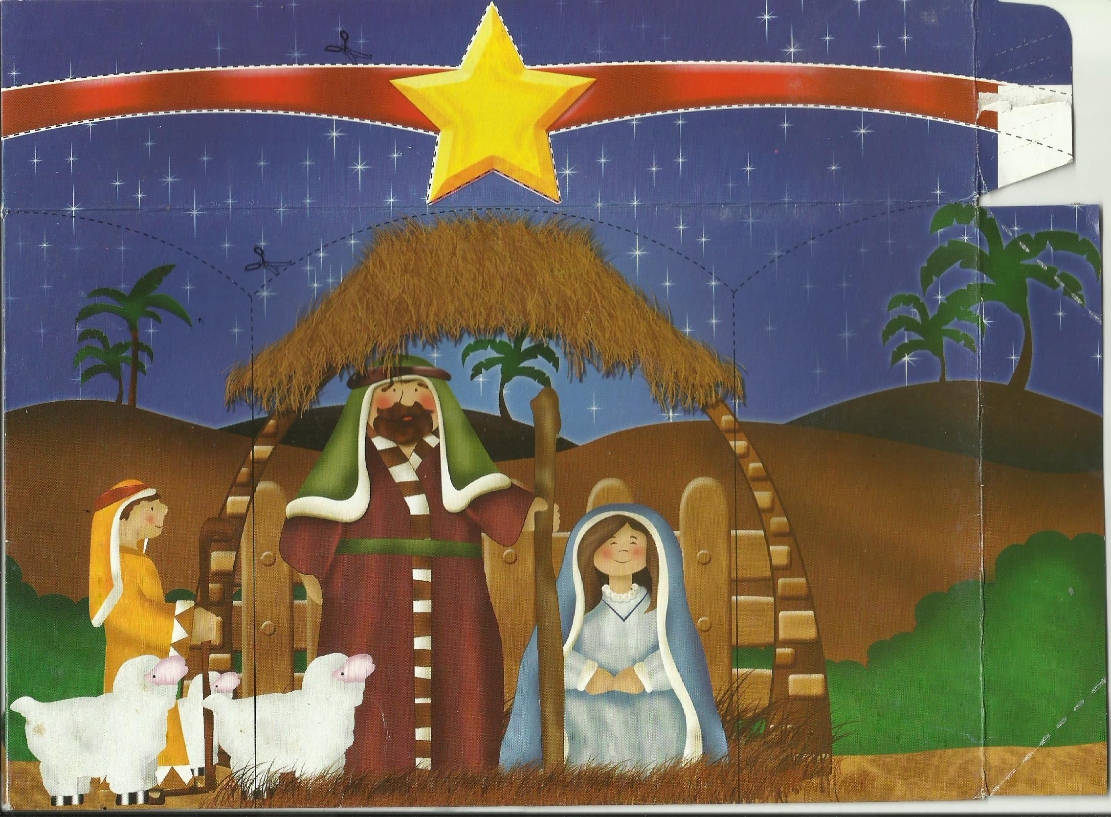 Imagen del Nacimiento del Niño Dios en el empaque de galletas Caravana 2006