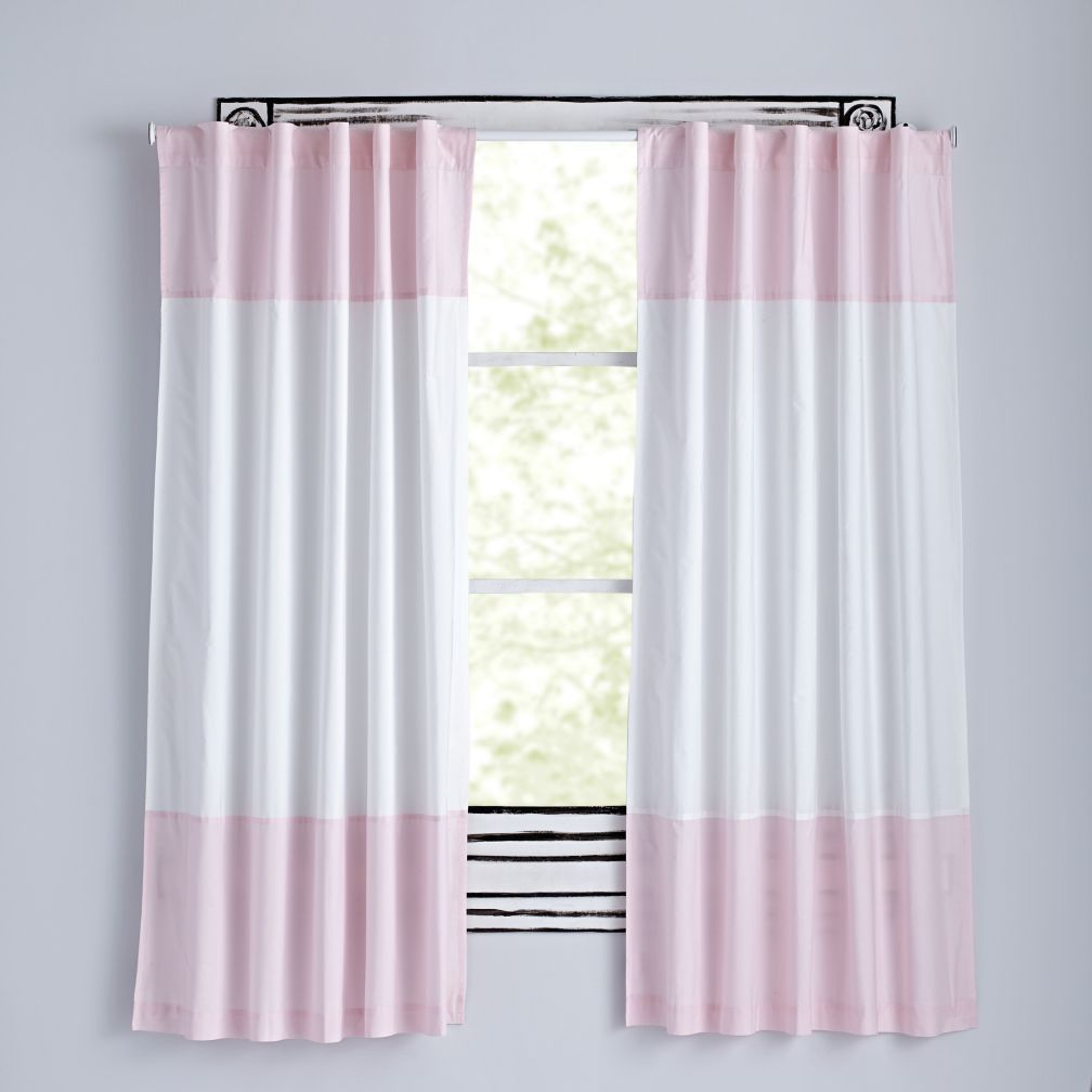 Color Edge Curtains Light Pink The Simple Design Of These Allows