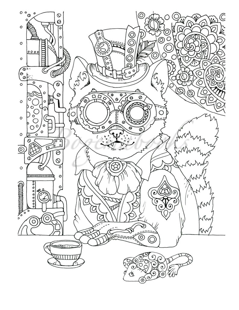 Steampunk Vol 2. Adult Coloring Book Coloring Pages