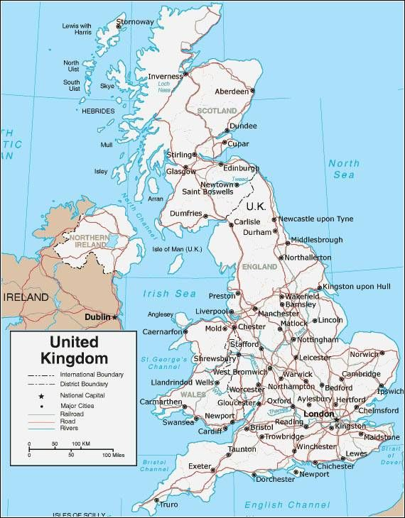 Kaart Van Engeland Engeland Uk Engeland Reizen