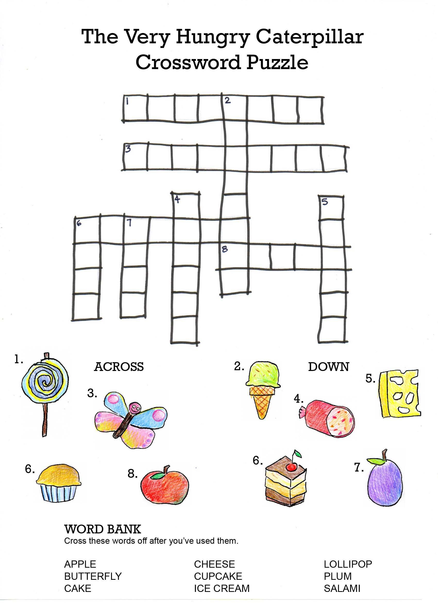 The Very Hungry Caterpillar Crossword
