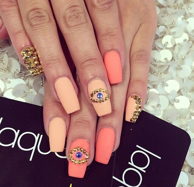 Naranja   pretty   Pinterest   Nail inspo