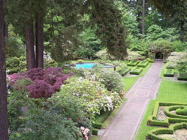 Lakewold Gardens, Lakewood, WA | Capitalizing on views of Mount ...